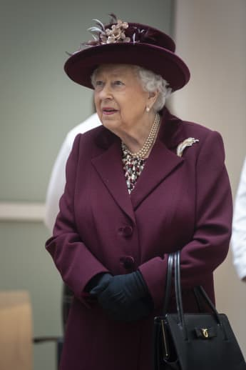 Queen Elizabeth II during a visit at MI5 in February.