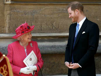 Queen Elizabeth and Prince Harry