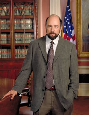 "Richard Schiff as ""Toby Ziegler"" in 'The West Wing'."