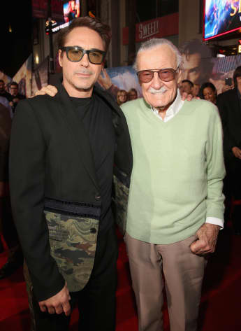 Robert Downey Jr. won the People's Choice Award and dedicated his prize to the late Stan Lee.