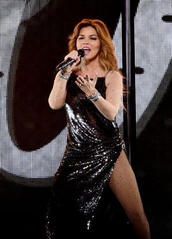 Shania Twain performs at the Staples Center on August 3, 2018 in Los Angeles, California.