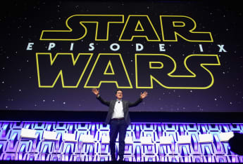 Stephen Colbert at the Star Wars Celebration in Chicago in 2019.