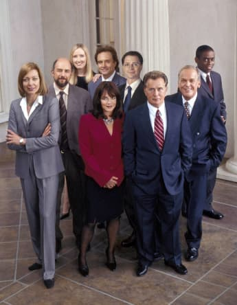 The cast of 'The West Wing' in 2005.