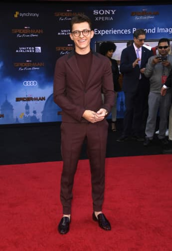 Tom Holland at the red carpet premiere of Spider-Man Far From Home