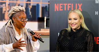 "'The View': Whoopi Goldberg tells Meghan McCain to ""stop talking right now!""."