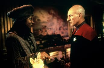 Patrick Stewart and Whoopi Goldberg