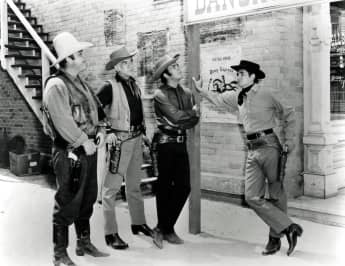 "Dan Blocker, Lorne Greene, Pernell Roberts and Michael Landon starred in the series, ""Bonanza"""