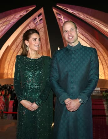 The Duchess of Cambridge attends a special reception hosted by the British High Commissioner Thomas Drew, at the Pakistan National Monument, during day two of their royal tour of Pakistan on October 15, 2019 in Islamabad, Pakistan.
