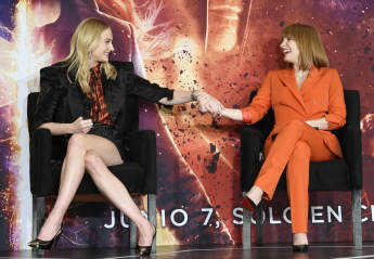 Sophie Turner and Jessica Chastain talking about the X-Men: Dark Phoenix
