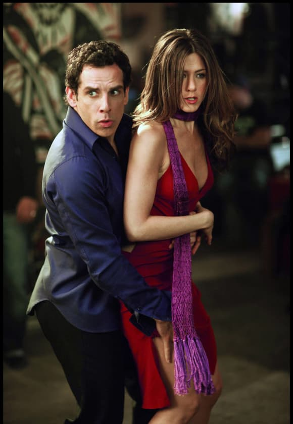 """Jennifer Aniston and Ben Stiller in the film """"Along Came Polly""""."""