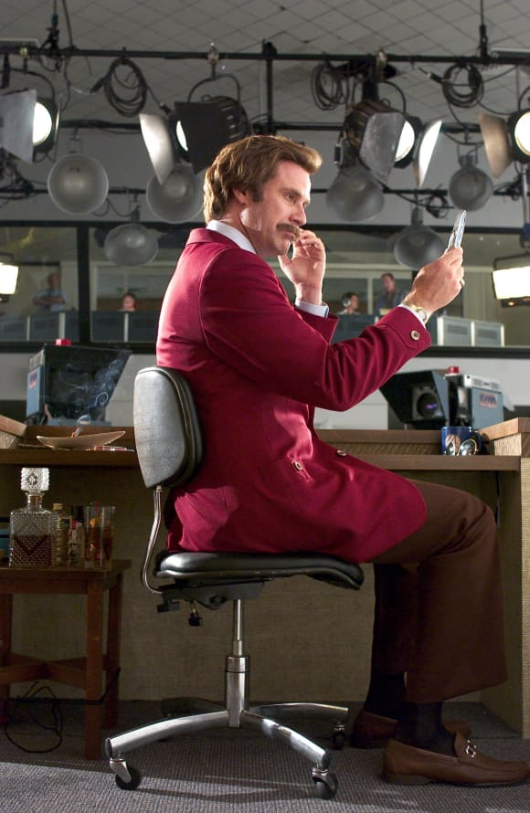 "Will Ferrell in ""Anchorman: The Legend Of Ron Burgundy"""