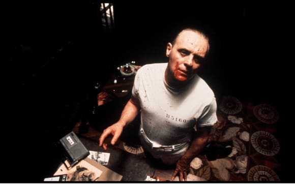 """Anthony Hopkins in """"Silence Of The Lambs"""""""