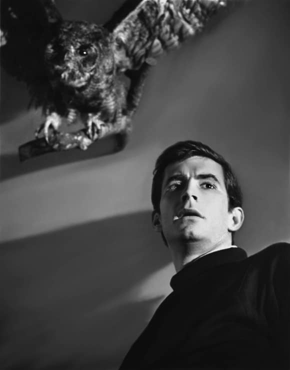 "Anthony Perkins in ""Psycho"""