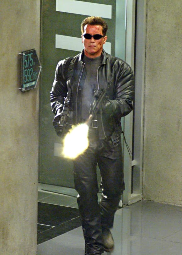 "Arnold Schwarzenegger in ""The Terminator"""
