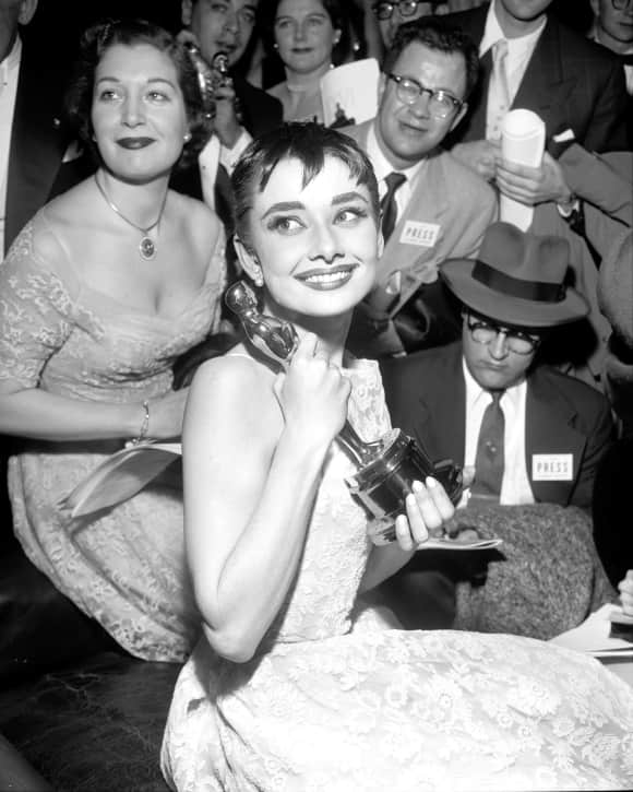 "Audrey Hepburn won an Oscar for ""Roman Holiday"""
