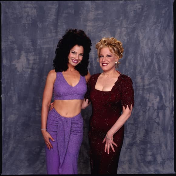 "Bette Midler and Fran Drescher in ""The Nanny"""