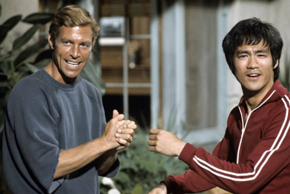 Bruce Lee and James Franciscus in 'Long Street'