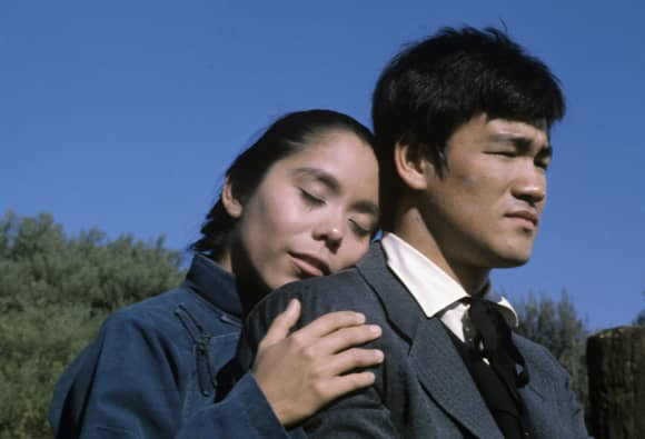 Bruce Lee and Linda Dangcil in 'Here Come The Brides'