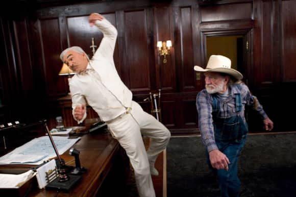 """Burt Reynolds and Willie Nelson in """"The Dukes of Hazzard"""""""