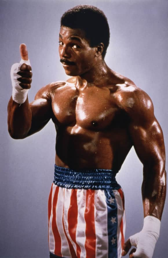 "Carl Weathers as ""Apollo Creed"" in ""Rocky"""