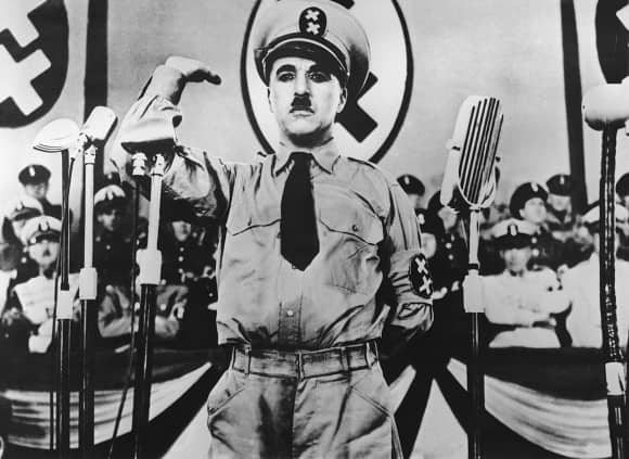 """Charlie Chaplin in the """"The Great Dictator"""""""