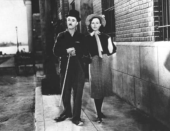 Charlie Chaplin and his third wife Paulette Goddard
