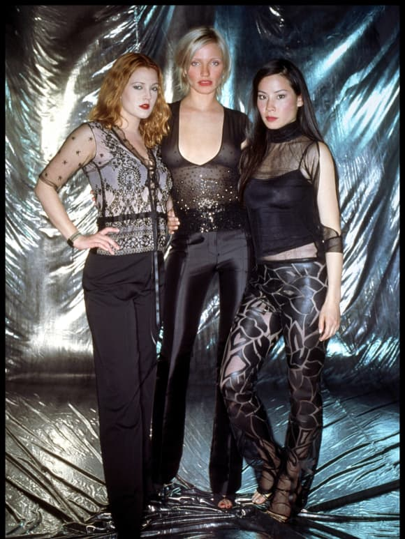 Drew Barrymore, Cameron Diaz and Lucy Liu star in Charlie's Angels.