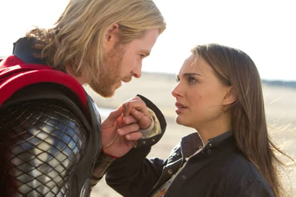 Chris Hemsworth and Natalie Portman in 'Thor: The Dark World'