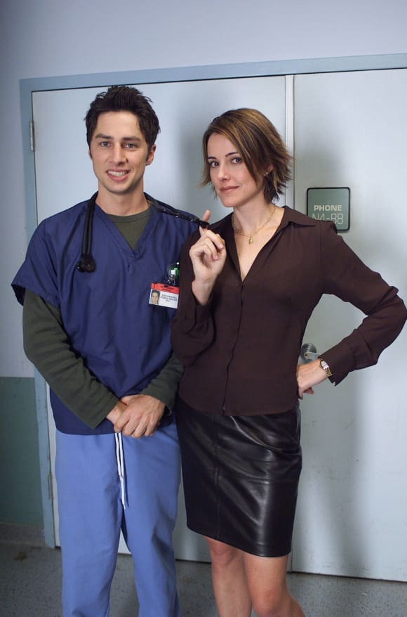 Christa Miller and Zach Braff in 'Scrubs'