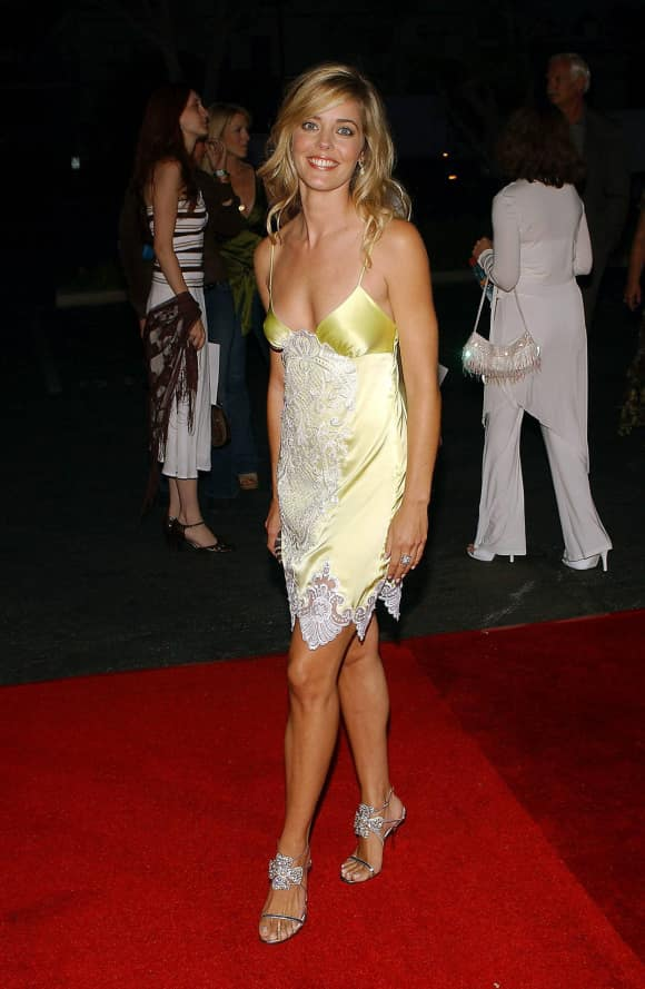 Christina Moore at a film premiere in Hollywood