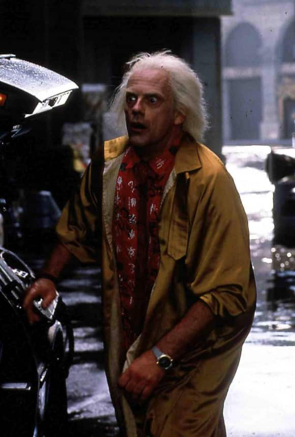 "Christopher Lloyd in ""Back To The Future"""