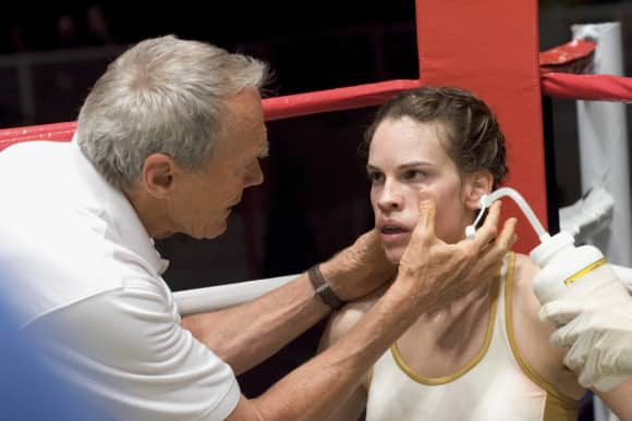 """Clint Eastwood and Hilary Swank in """"Million Dollar Baby"""""""