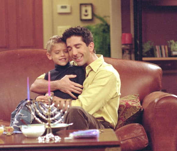 Cole Sprouse and David Schwimmer in 'Friends'
