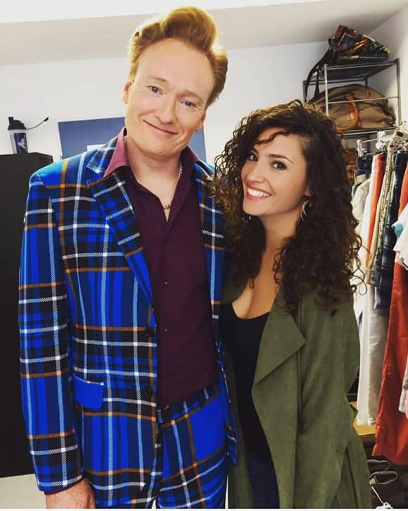 Conan O'Brien and Nadine Menz
