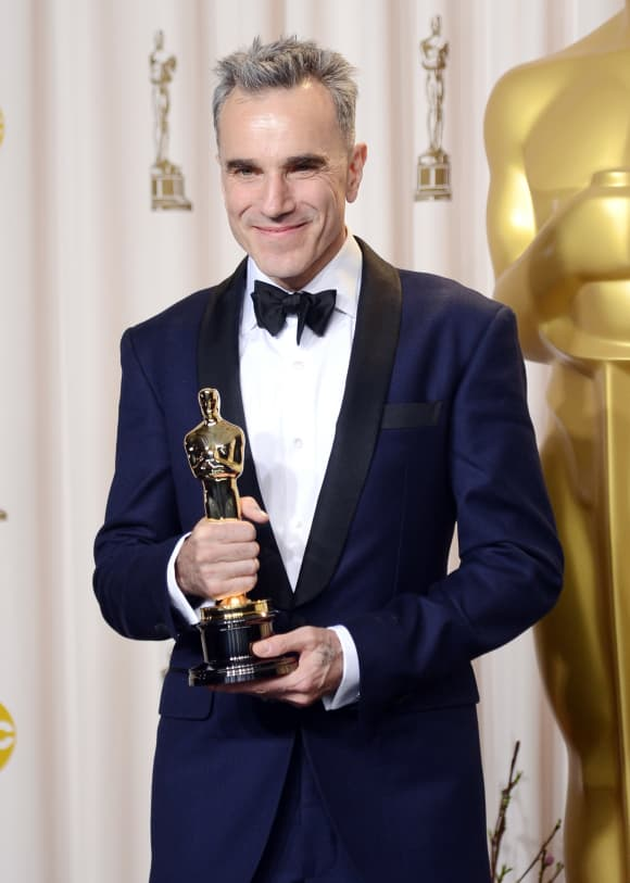 "Daniel Day-Lewis is awarded with the Oscar for Best Actor for ""Lincoln,"" on February 24, 2013 in Hollywood, California"