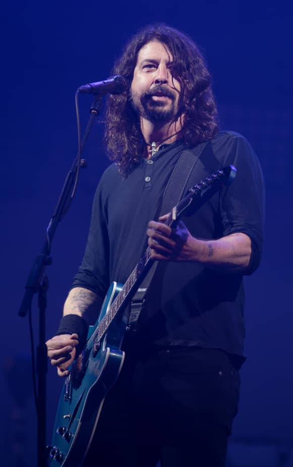Dave Grohl at the Glastonbury Festival in 2017