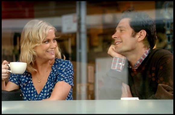 "David Wain and Amy Poehler in ""They Came Together"""
