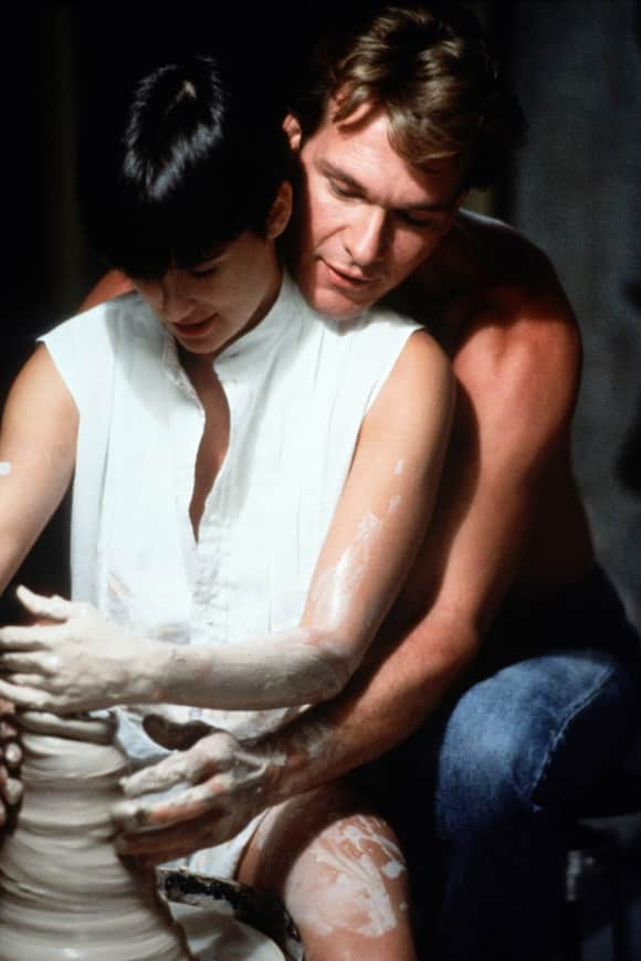 "Demi Moore and Patrick Swayze in ""Ghost"""