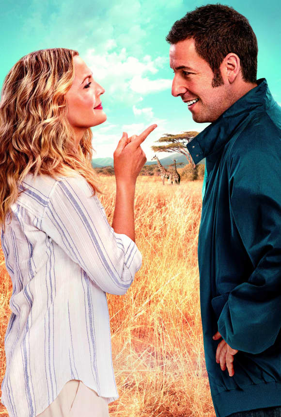 Drew Barrymore and Adam Sandler in 'Blended'