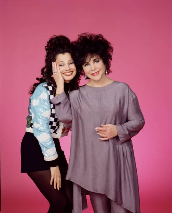 "Elisabeth Taylor and Fran Drescher in ""The Nanny"""