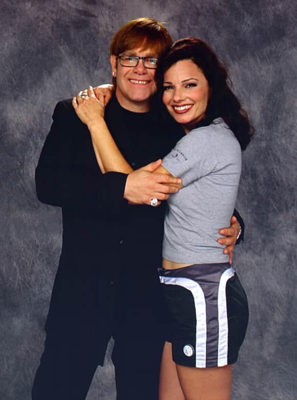 "Elton John and Fran Drescher in ""The Nanny"""