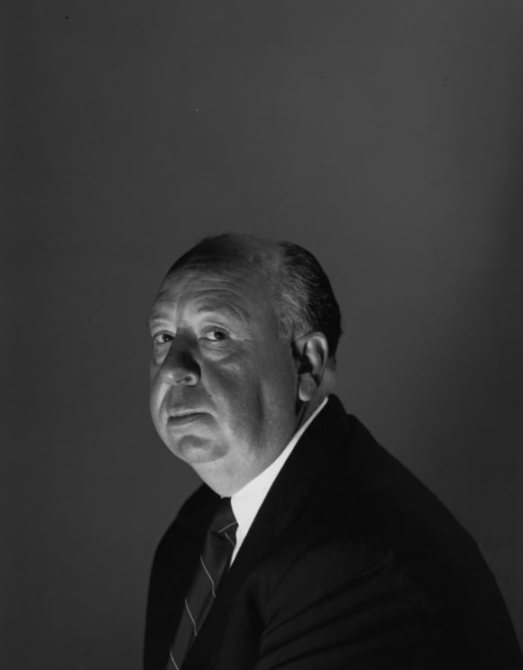 English film director Alfred Hitchcock (1899-1980) in London, 1959.