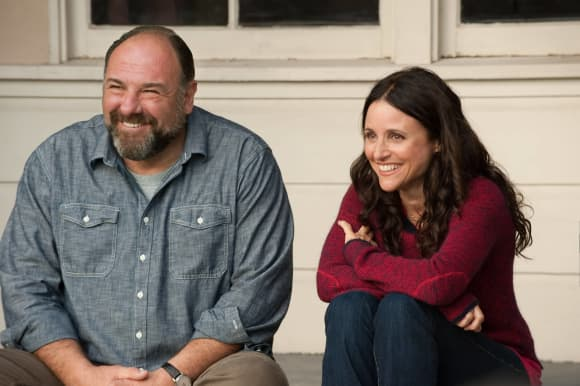 "James Gandolfini and Julia Louis-Dreyfus in ""Enough Said"""