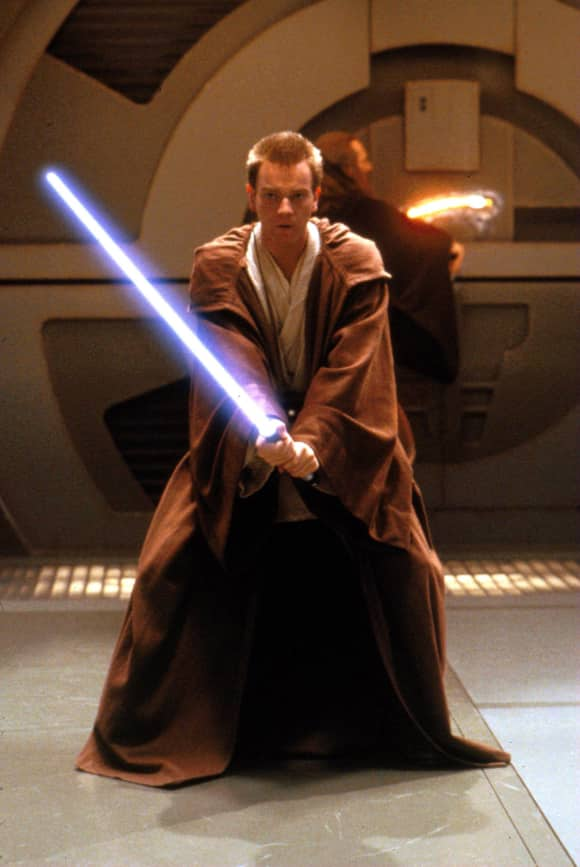 "Ewan McGregor Obi Wan Kenobi in ""Star Wars"""
