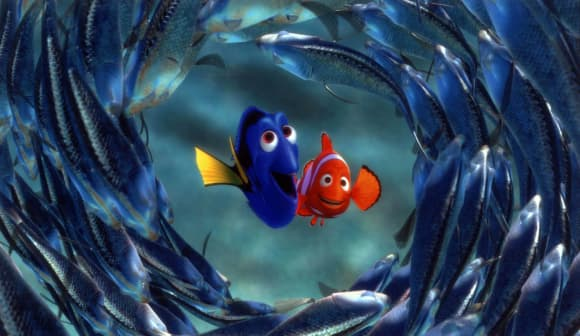 """Dory"" and ""Nemo"" in Finding Nemo"
