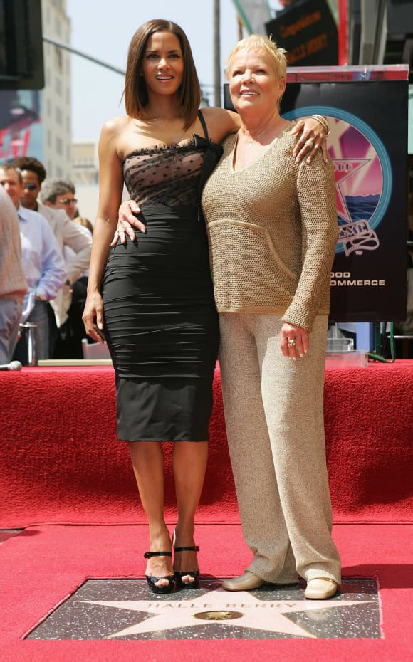 Halle Berry poses with her mother Judith Berry at her new star on the Hollywood Walk of Fame, April 3rd, 2017.