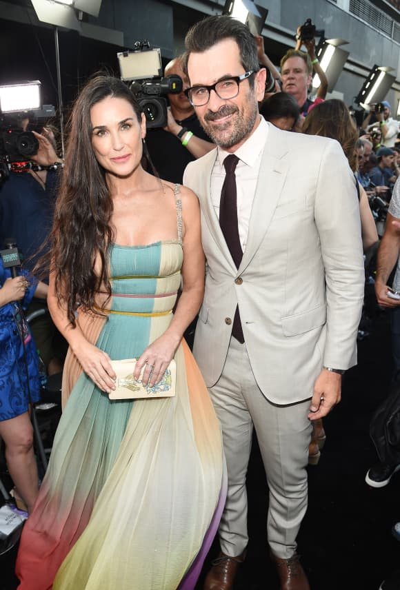 "Demi Moore and Ty Burrell at the New York premiere of ""Rough Night""."