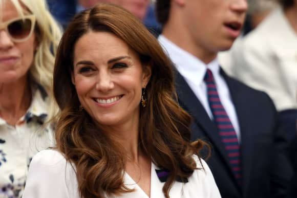 Britain's Catherine, Duchess of Cambridge attends the Wimbledon 2019 Tennis Championships in London, England.