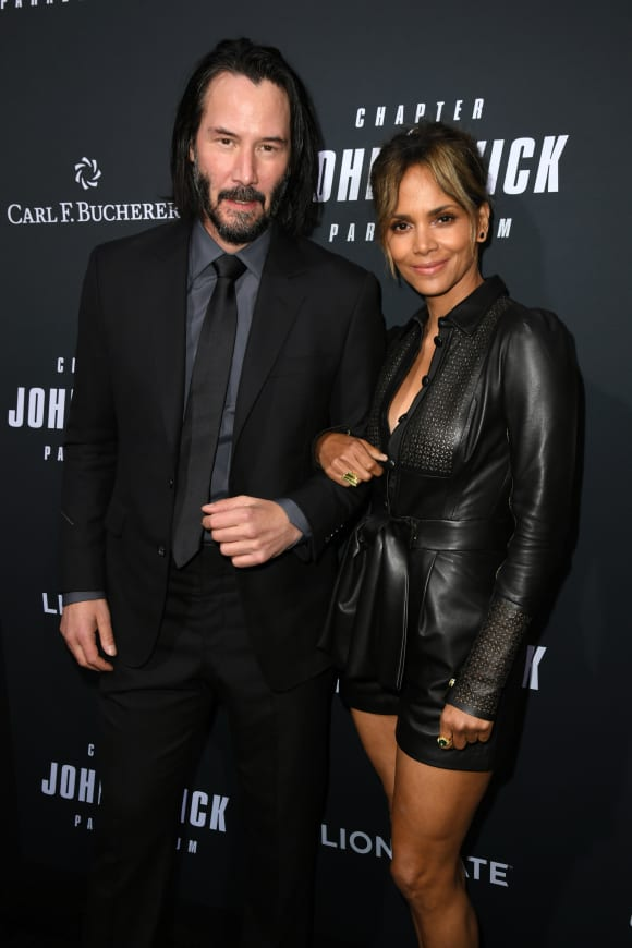 Halle Berry and Keanu Reeves at a screening for 'John Wick: Chapter 3 - Parabellum' in May, 2019.