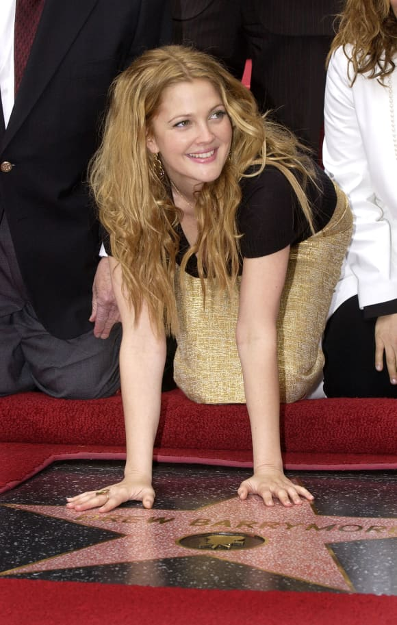 Drew Barrymore was honored with a star on the Hollywood Walk of Fame February 3, 2004.